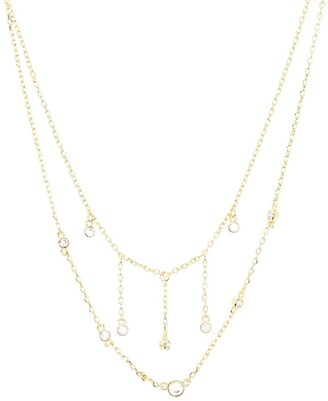 Nordstrom Dangling CZ Layered Necklace