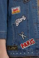 Only Eva 3/4 Badge Oversize Denim Jacket