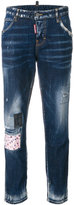 DSQUARED2 Hockney jeans - women - Cotton/Calf Leather/Polyester/Spandex/Elastane - 36
