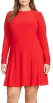 Lauren Ralph Lauren Plus Size Women's Fit & Flare Dress