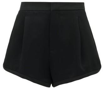 Dundas Tailored Satin-crepe Shorts - Black