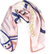 Vivienne Westwood Women's Mantero Silk Seersucker Scarf Pink
