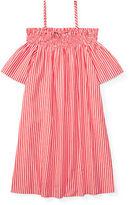 Ralph Lauren 7-16 Striped Off-The-Shoulder Dress