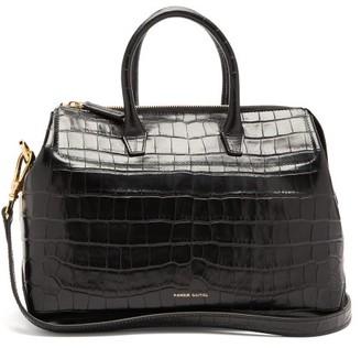Mansur Gavriel Travel Mini Crocodile-effect Leather Bag - Womens - Black