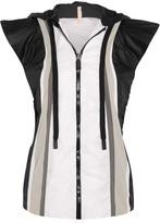 NO KA 'OI No Ka'Oi - Moe Paneled Shell Hooded Vest - White