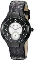 Philip Stein Teslar Women's 41B-DMBW-CHGR Round Analog Display Japanese Quartz Black Watch