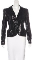 Nanette Lepore Fitted Sequin Blazer