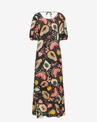 Selected Tutti Frutti Print Maxi Dress - 34