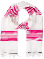 Lemlem Striped Fringed Scarf