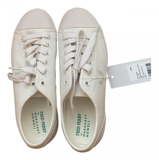 Margaret Howell White Cloth Trainers