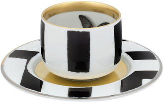 Christian Lacroix Sol Y Sombra Espresso/Coffee Cups & Saucers, Set of 4