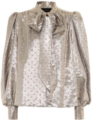 Dundas Polka-dot silk-blend blouse