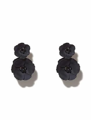 Forever New Camy Coated Flower Under-Ear Earrings - Navy - 00