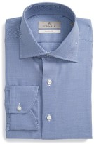 Canali Men's Trim Fit Houndstooth Dress Shirt
