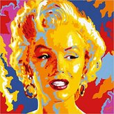 Monroe 1art1 Posters: Vladimir Gorsky Poster Art Print - Marilyn 33 x 33 inches)