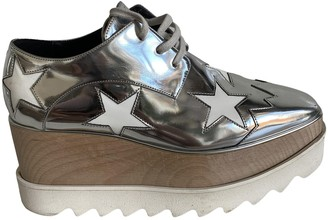 Stella McCartney Stella Mc Cartney Elyse Silver Leather Lace ups