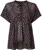 Jil Sander Navy shortsleeved blouse - women - Polyester - 34