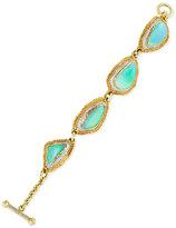 Victor Velyan Australian Opal and Diamond Link Bracelet