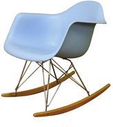 Blue Plastic Rocking Chair