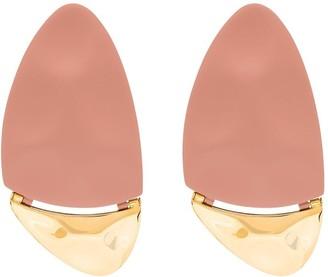 Monica Sordo x gold-plated two tone oval earrings