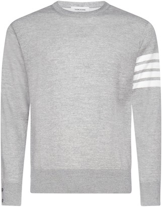 Thom Browne 4-Bar Striped Sweater