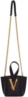 Versace Black Mini Virtus Bucket Bag