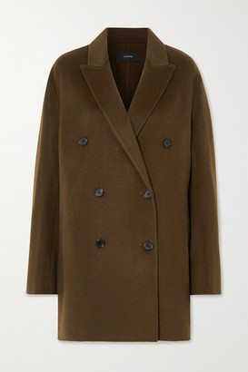 Joseph Clavel Double-breasted Wool And Cashmere-blend Coat - Army green