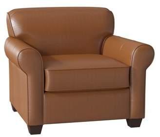 Wayfair Custom Upholstery Jennifer Leather Club Chair Body Fabric: Steamboat Chestnut