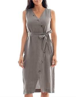 Jump Sleeveless Button Detail Dress