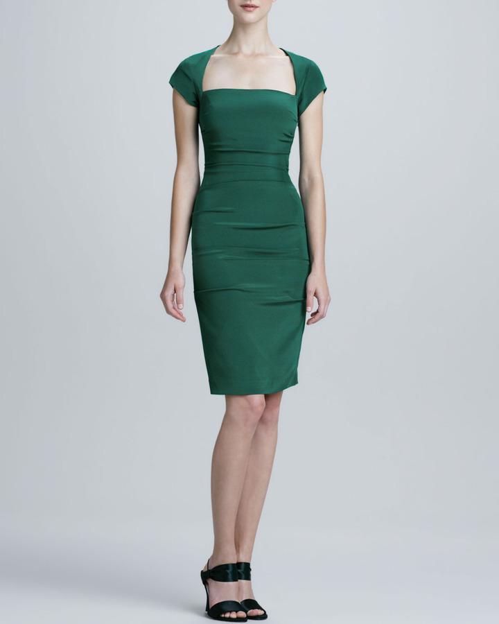 Nicole Miller Square-Neck Cocktail Dress