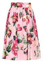 Dolce & Gabbana Floral-printed cotton skirt