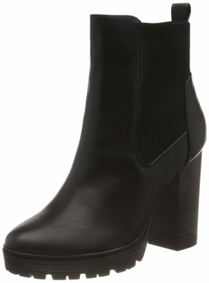 Only Women's ONLTAYA Stacked-1 PU Heeled Boot Fashion