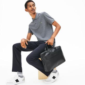 Lacoste Men's L.12.12 Detachable Shoulder Strap Leather Computer Bag