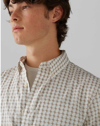 Club Monaco Short Sleeve Crisscross Shirt