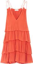 Apiece Apart Canyons tiered ruffled silk-crepon mini dress
