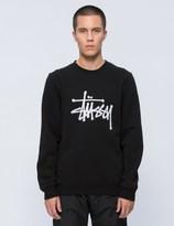 Stussy Chain Stitch Applique Crewneck Sweatshirt