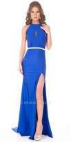 Atria Strappy Open Back Keyhole Prom Gown