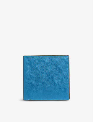 Smythson Panama eight-card leather wallet
