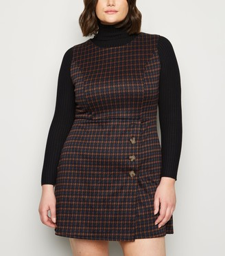 New Look Curves Dogtooth Mini Dress