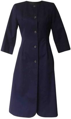 Ganni Blue Cotton Coats