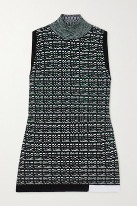 GAUCHERE Renecia Jacquard-knit Turtleneck Top - Emerald