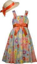 Bonnie Jean Floral Dress and Hat Set - Preschool Girls 4-6x