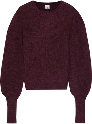 Iris & Ink Ava Marled Mohair-blend Sweater
