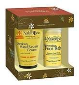 The Naked Bee Serious Restoration For Hands & Feet Gift Set, Orange Blossom Honey