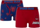 Spiderman Boys' Trunks, Pack of 2, Red/Blue