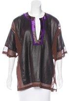 Bottega Veneta Short Sleeve Colorblock Top
