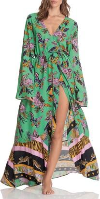 Maaji Herbaceous Moonbow Cover-Up Maxi Robe