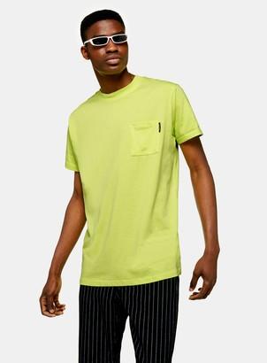Topman NIGHT ADDICT Yellow Pastel Neon T-Shirt*