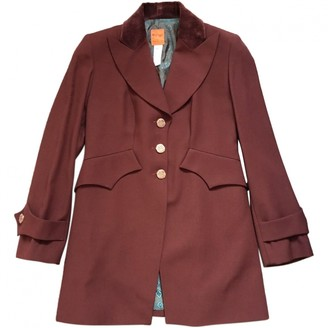 Christian Lacroix Burgundy Wool Jacket for Women Vintage