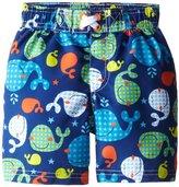 iXtreme Little Boys Swimwear Whale Print Rashguard Swim Trunk